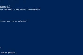 Powershell Skript – Überprüfung auf nicht erlaubte DHCP Server